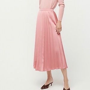 J. CREW PLEATED MIDI SKIRT
